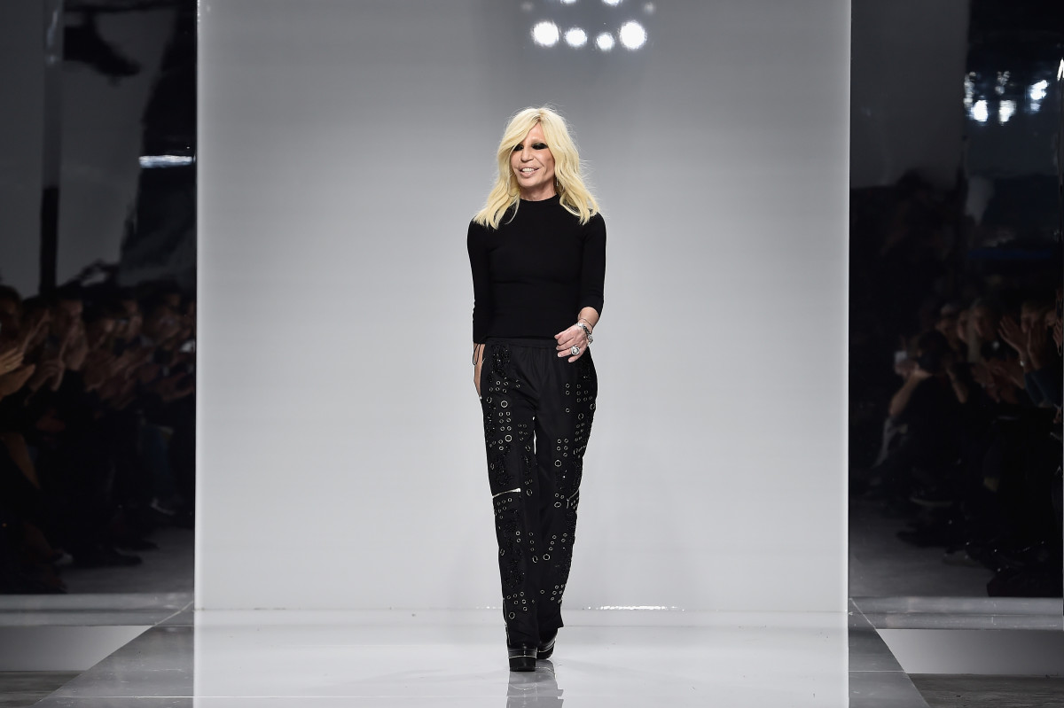 Donatella Versace on the brand's Spring 2016 couture runway. Photo: Getty Images