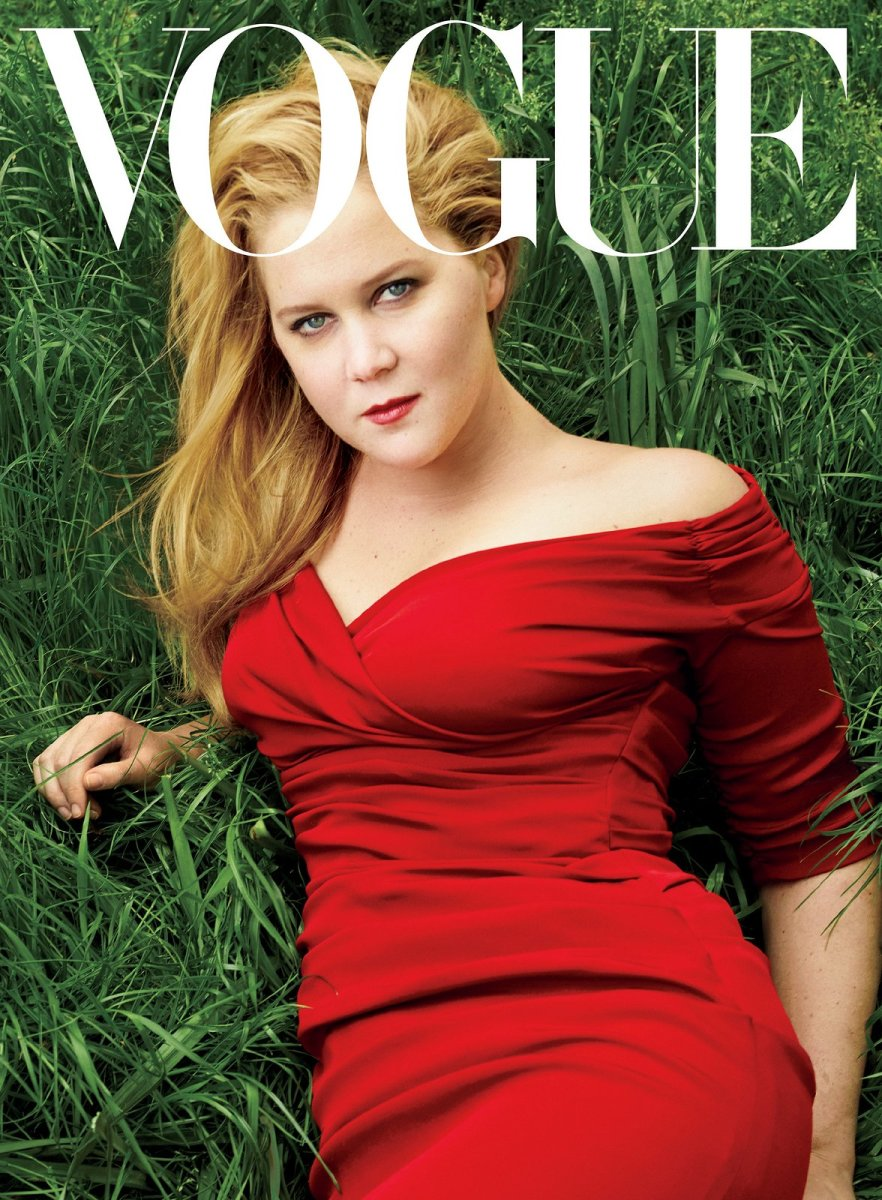 "Amy Schumer on the ""Vogue"" July 2016 cover. Photo: Annie Leibovitz"