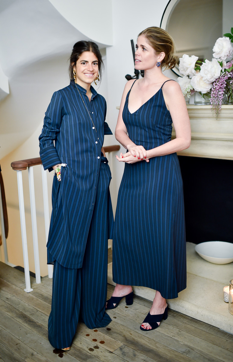Man Repeller's Leandra Medine and Atea Oceanie's Laura Myers celebrating the collaboration at Myers's home in May. Photo: Atea Oceanie