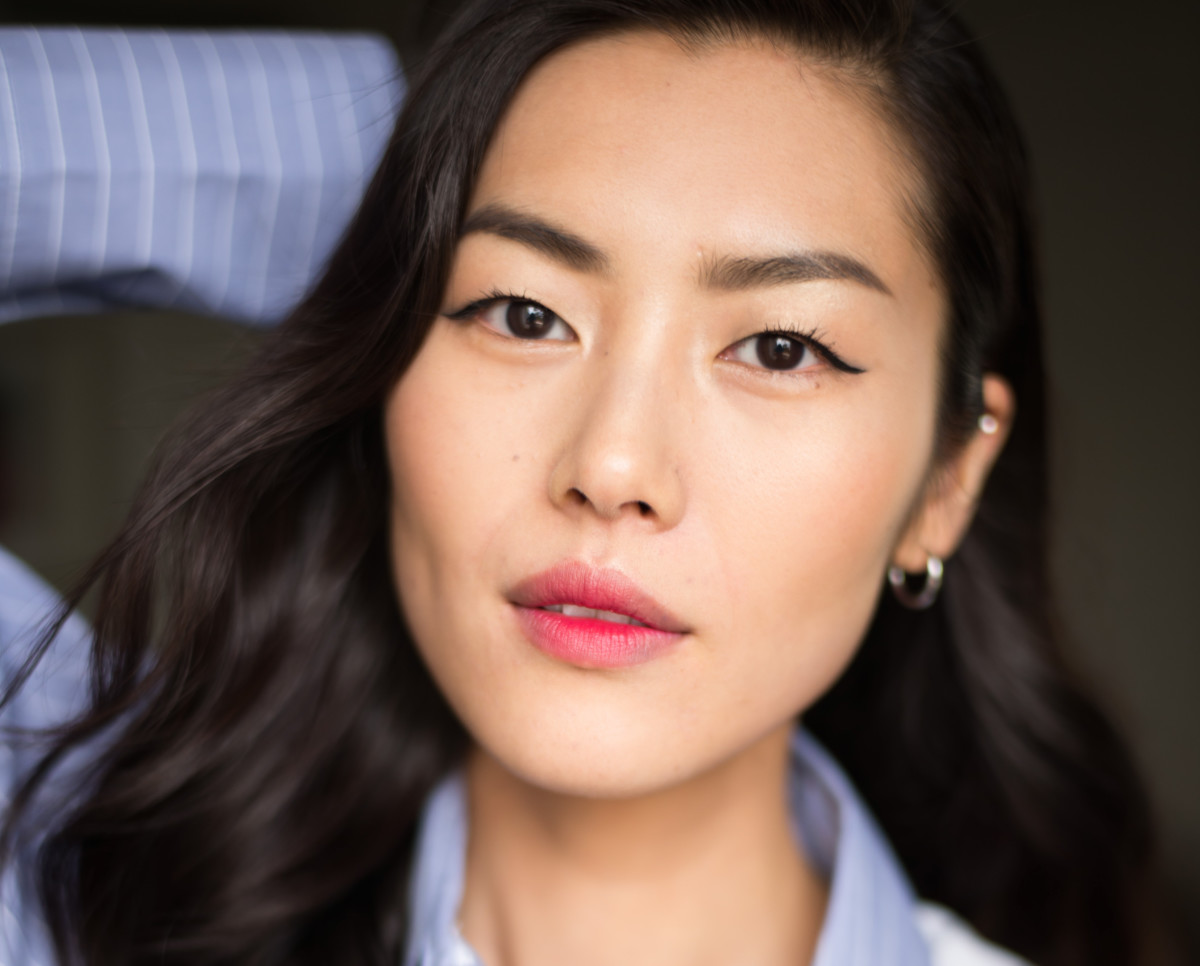 Liu Wen, one of the most poreless humans in existence. Photo: Getty Images