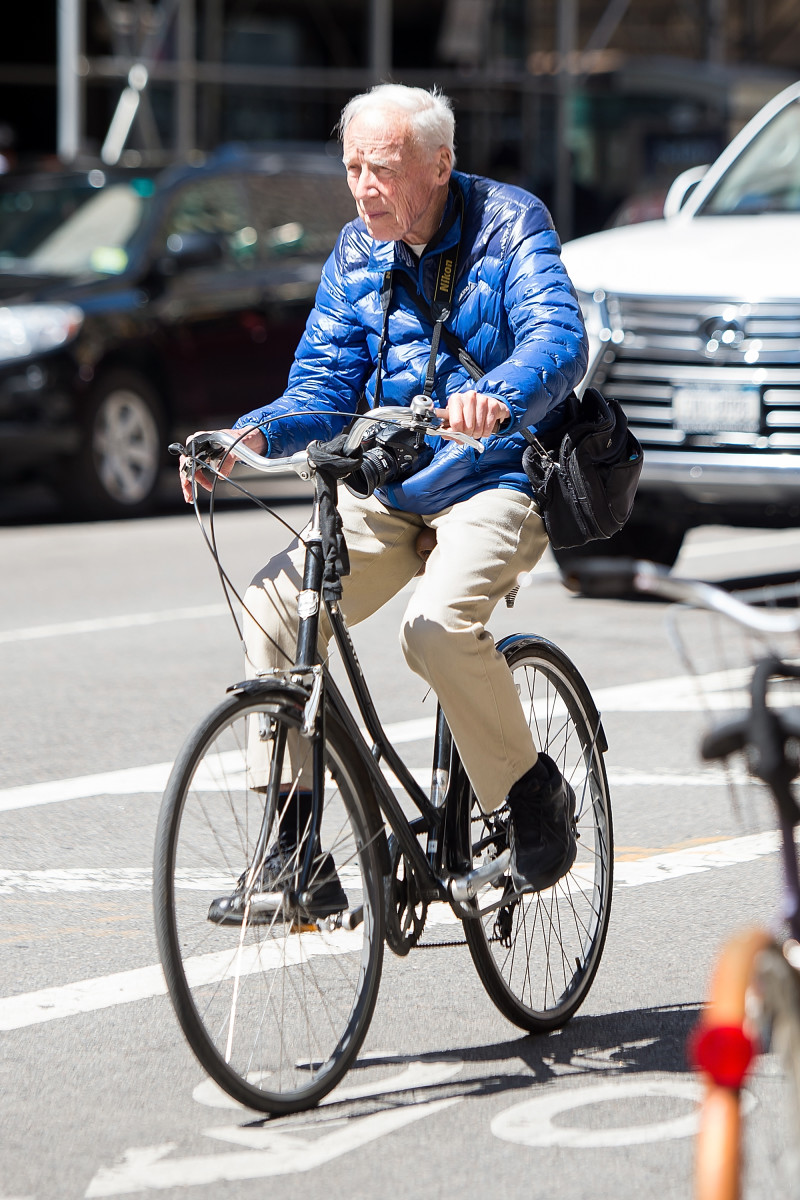 Bill Cunningham in New York City. Photo: Getty Images