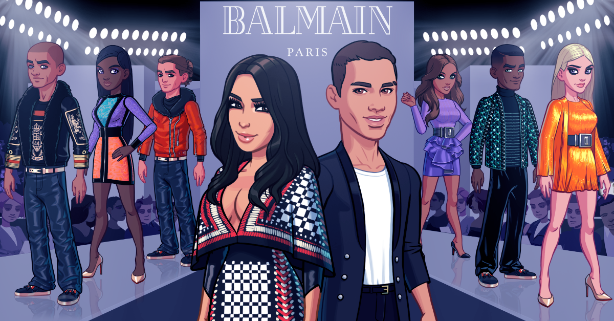 Balmain in Kim Kardashian: Hollywood. Photo: Glu Mobile