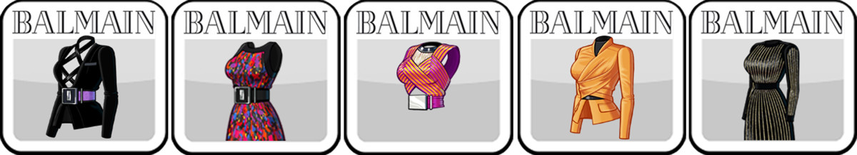 Most popular Balmain products on Kim Kardashian: Hollywood. Photo: Glu Mobile