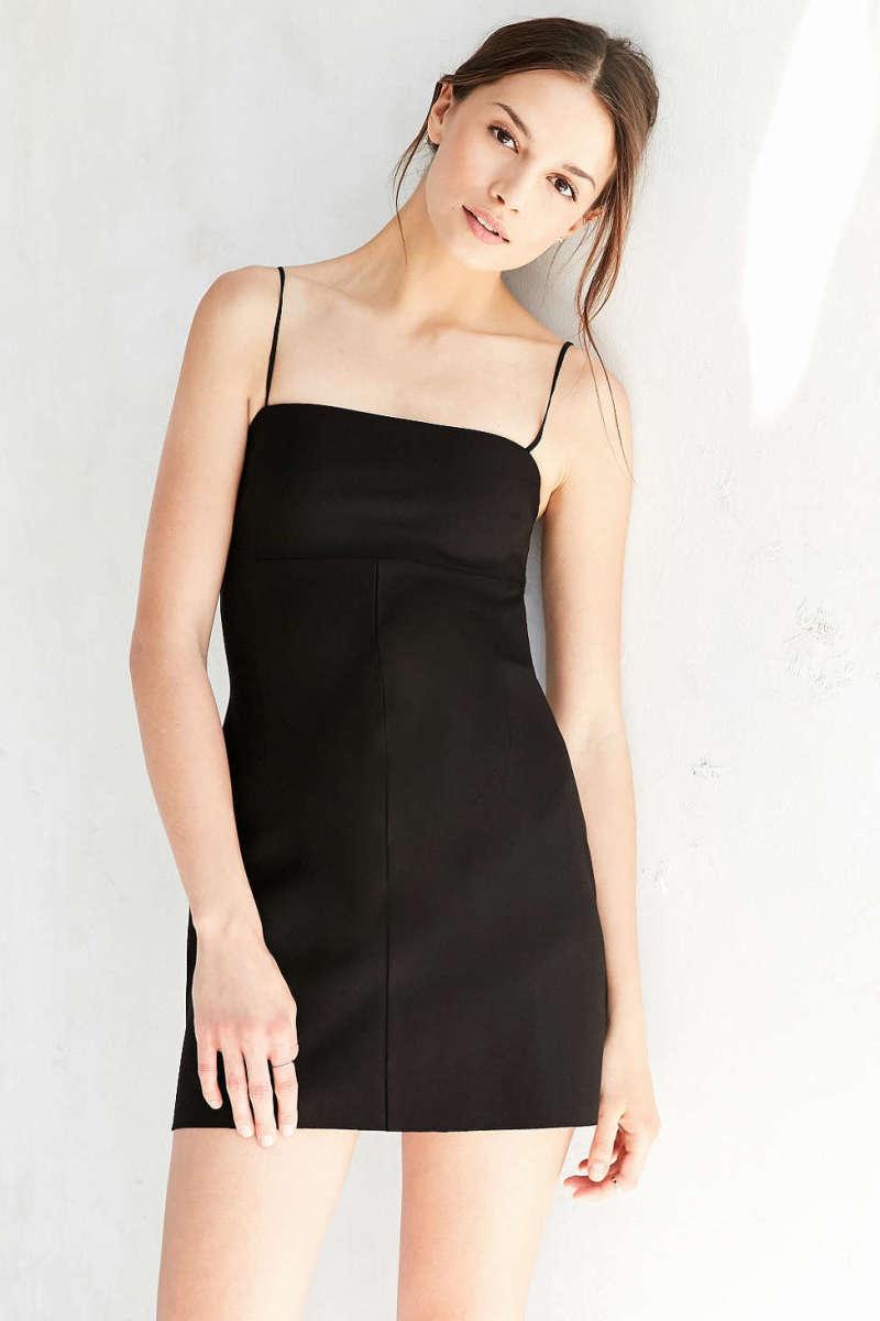 A Line Dress Black
