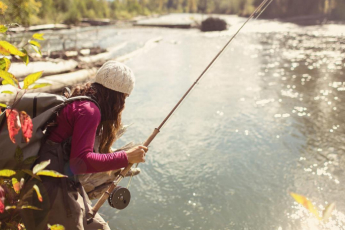 Fly fisher April Vokey in Northern British Columbia. Photo: @patagonia/Instagram