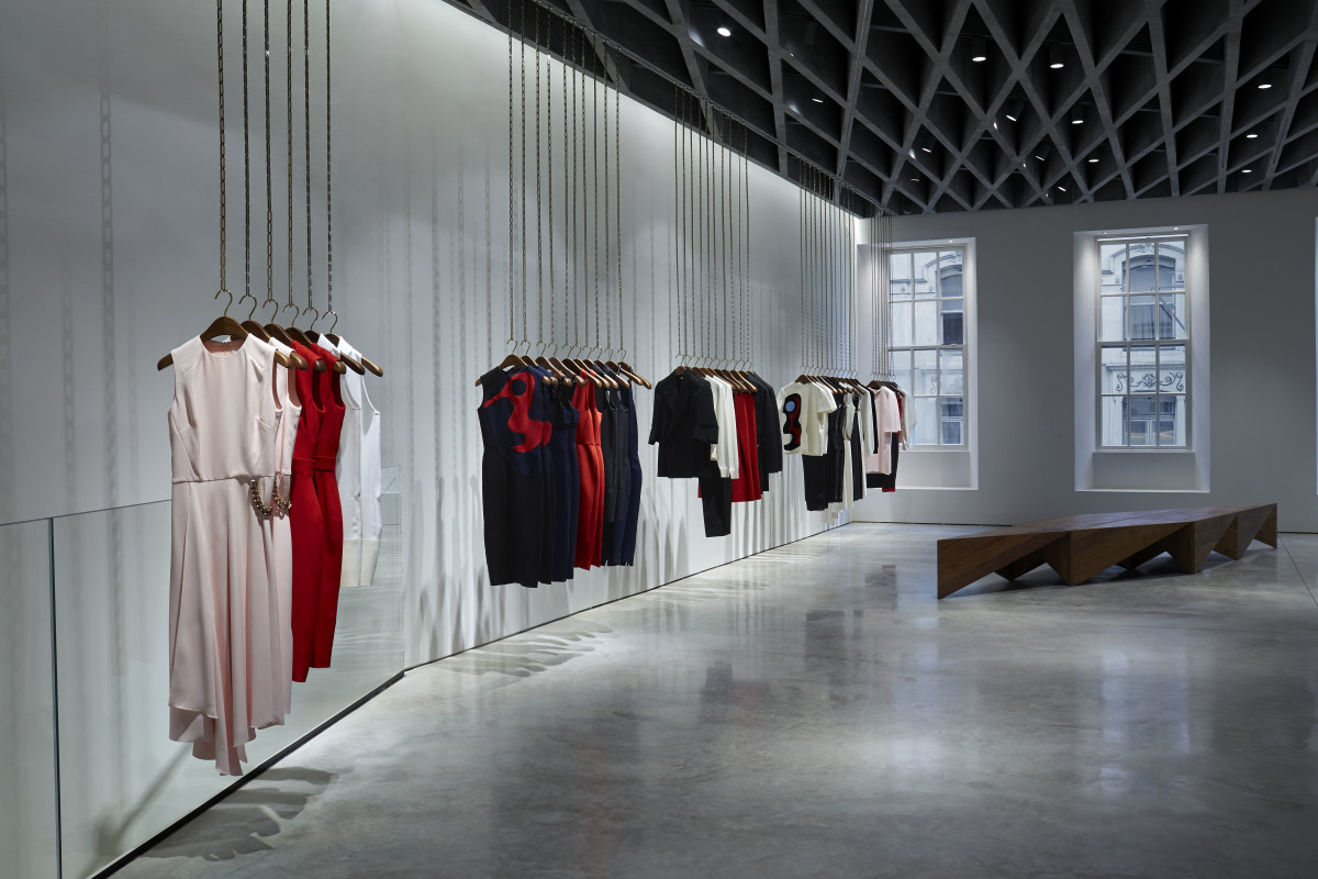 Victoria Beckham's polished concrete flagship is located at 36 Dover Street. Photo: Victoria Beckham