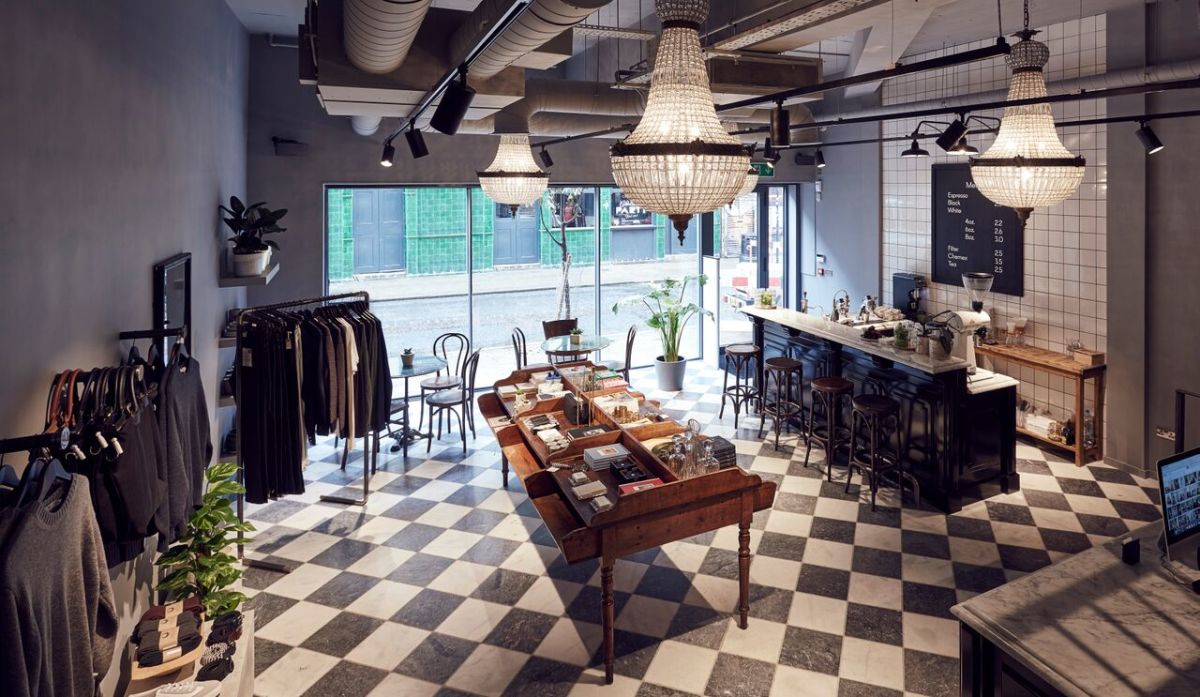 Modern Society, located at 33 Redchurch Street, describes itself as a general luxury store, serving up cappuccinos alongside designers like Isa Arfen and Sandy Liang. Photo: Modern Society