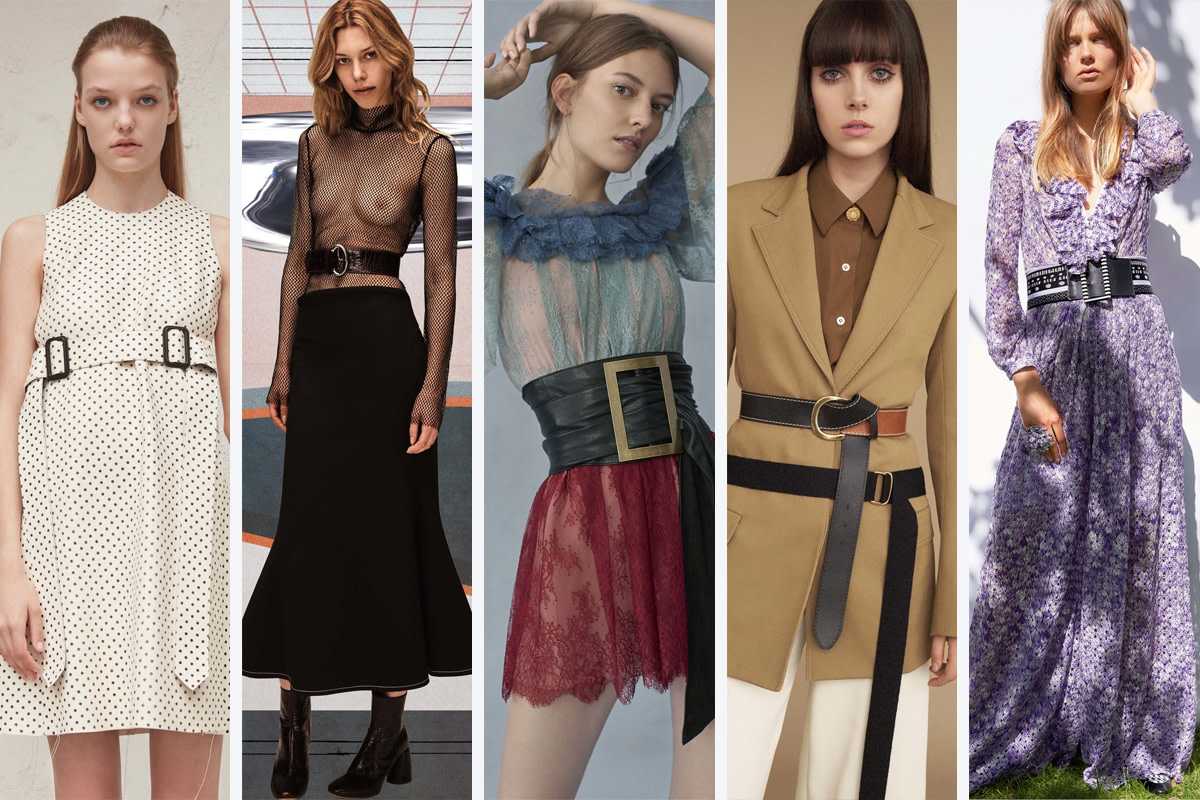 From left to right: Calvin Klein Collection, Ellery, Philosophy di Lorenzo Serafini, Sonia Rykiel, Missoni