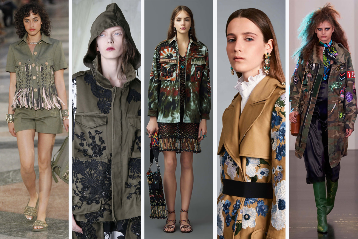 From left to right: Chanel, Antonio Marras, Valentino, Erdem, Marc Jacobs