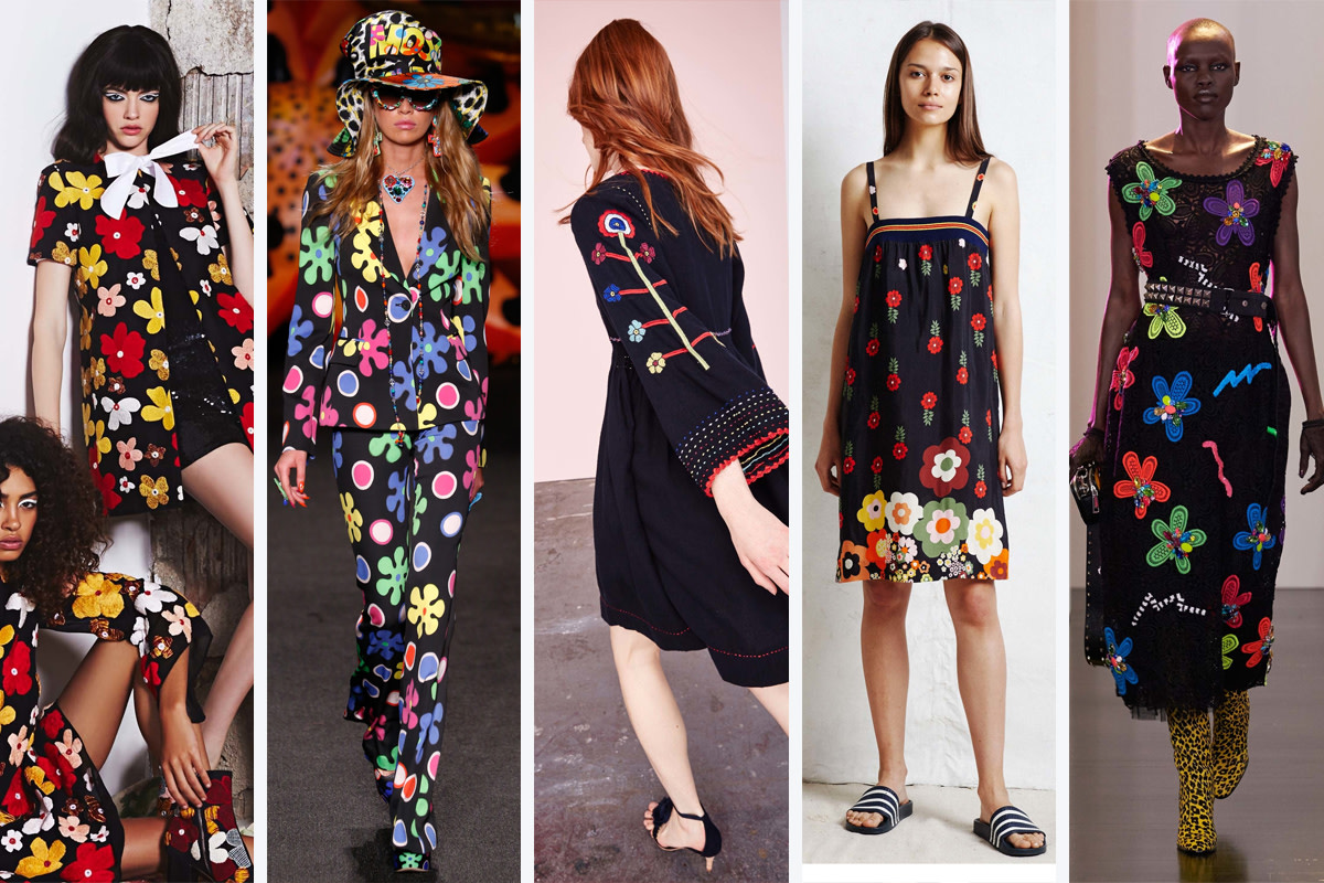 From left to right: Alice + Olivia, Moschino, Ulla Johnson, Warm, Marc Jacobs