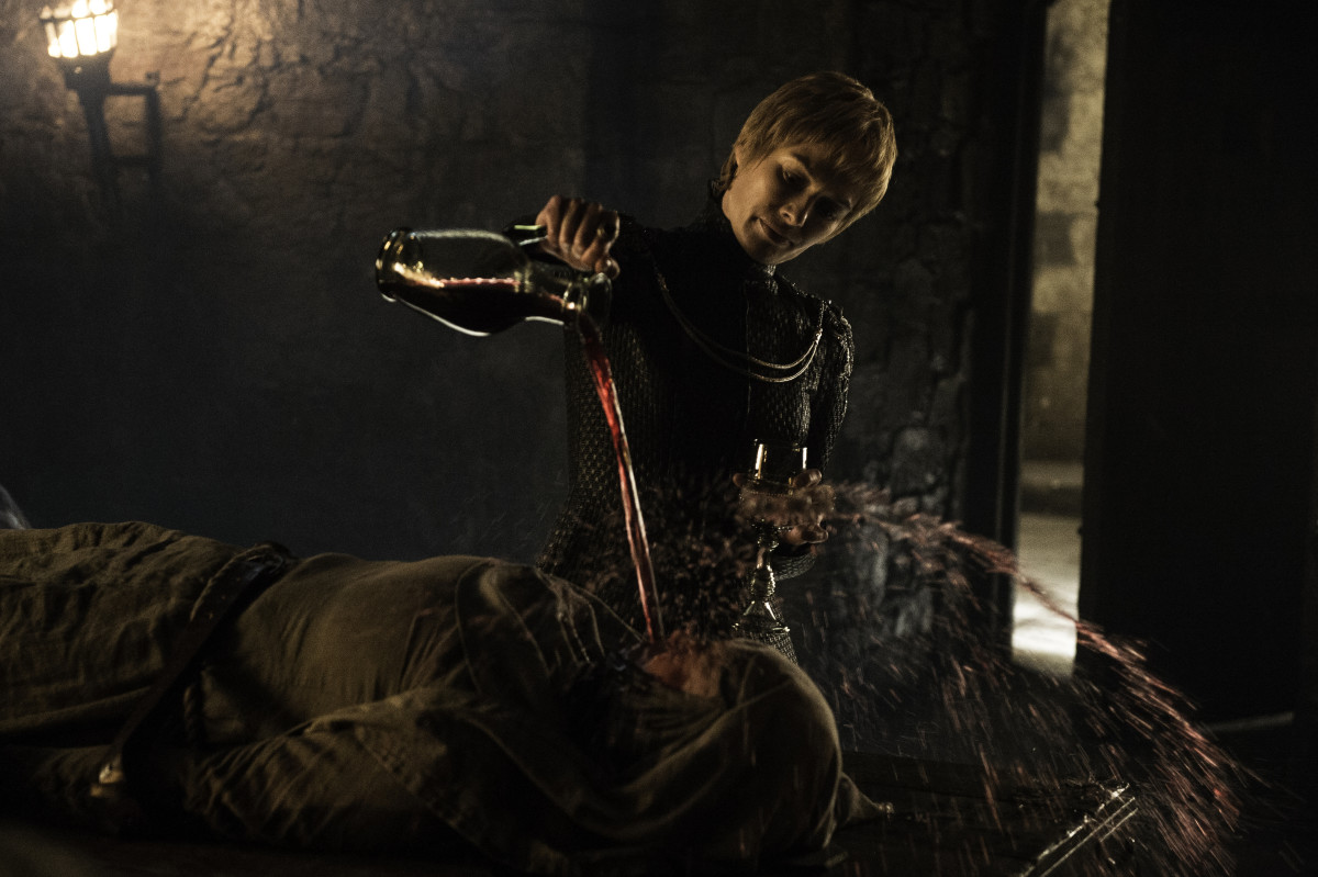 I mean, real talk, that's a waste of good wine. Photo: HBO