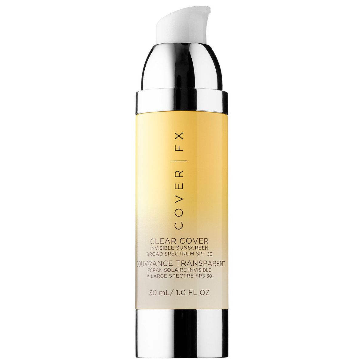 Cover FX Clear Cover Invisible Sunscreen Broad Spectrum SPF 30, $45, available at Sephora.com. Photo: Sephora