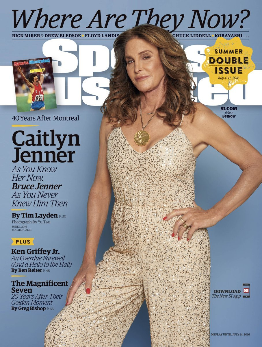 "Caitlyn Jenner on the cover of ""Sports Illustrated."" Photo: Yu Tsai"