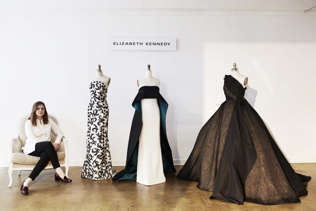 Elizabeth Kennedy with her designs. Photo: Elizabeth Kennedy