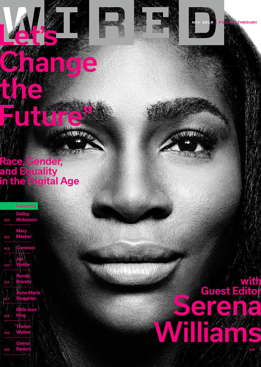 "Serena Williams on ""Wired,"" Nov. 2015. Photo: ""Wired"""