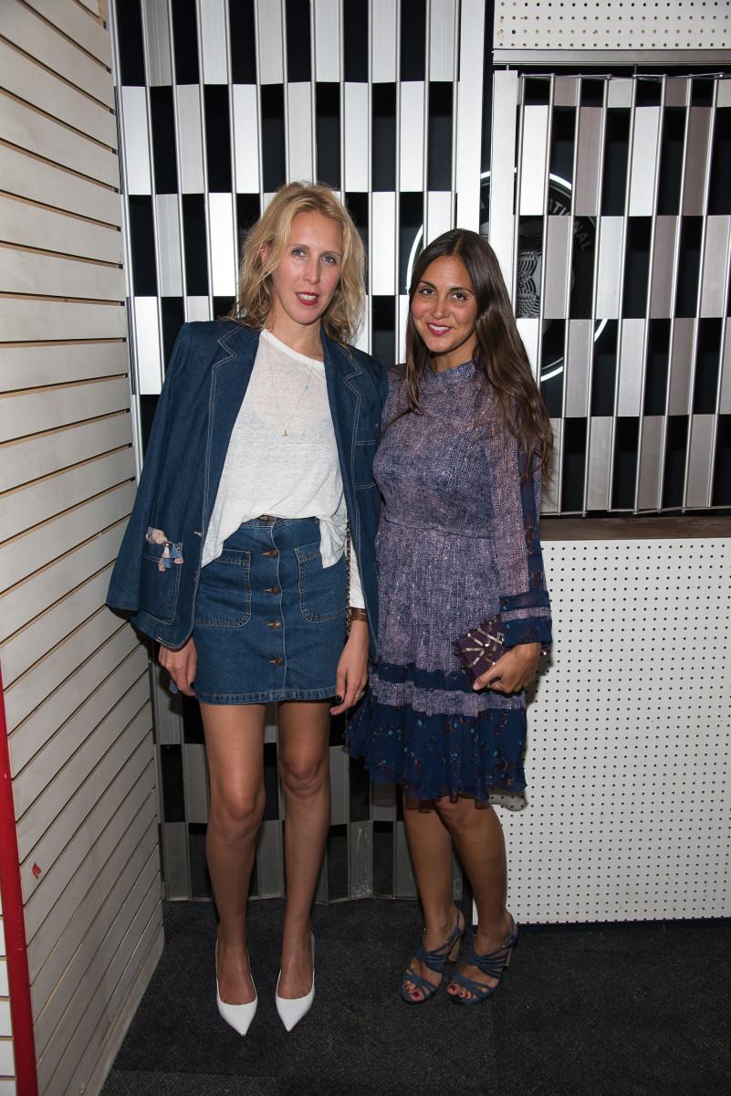 Lauren Goodman (left) at Red Bull Studios in Sept. 2015 in New York City. Photo: Dave Kotinsky/Getty Images