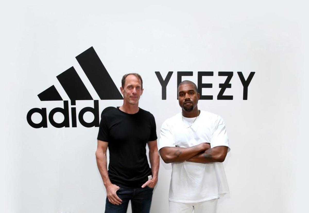 Adidas CMO Eric Liedtke and Kanye West. Photo: Adidas