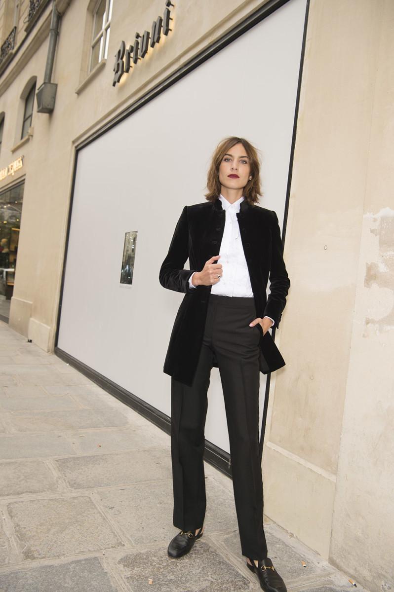 "Alexa Chung at the Brioni ""Paris One"" presentation. Photo: Courtesy of Brioni"