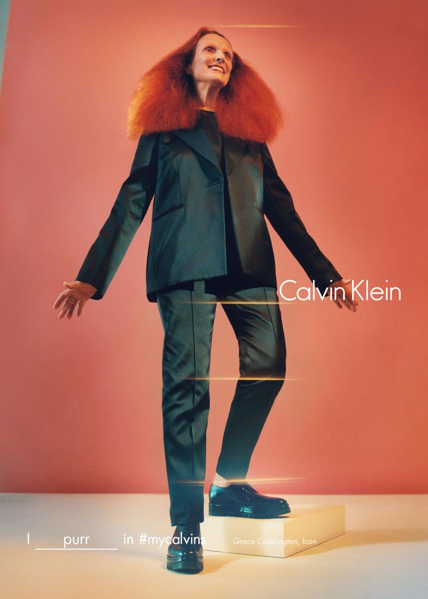 Grace Coddington in Calvin Klein's fall 2016 campaign. Photo: Tyrone Lebon/Calvin Klein