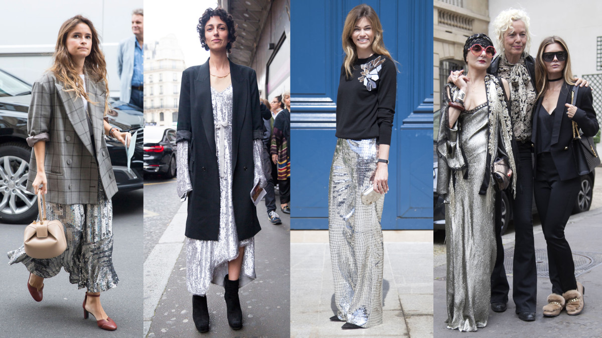 On the street at the Paris couture shows. Photos from left to right: Imaxtree (3), Emily Malan/Fashionista