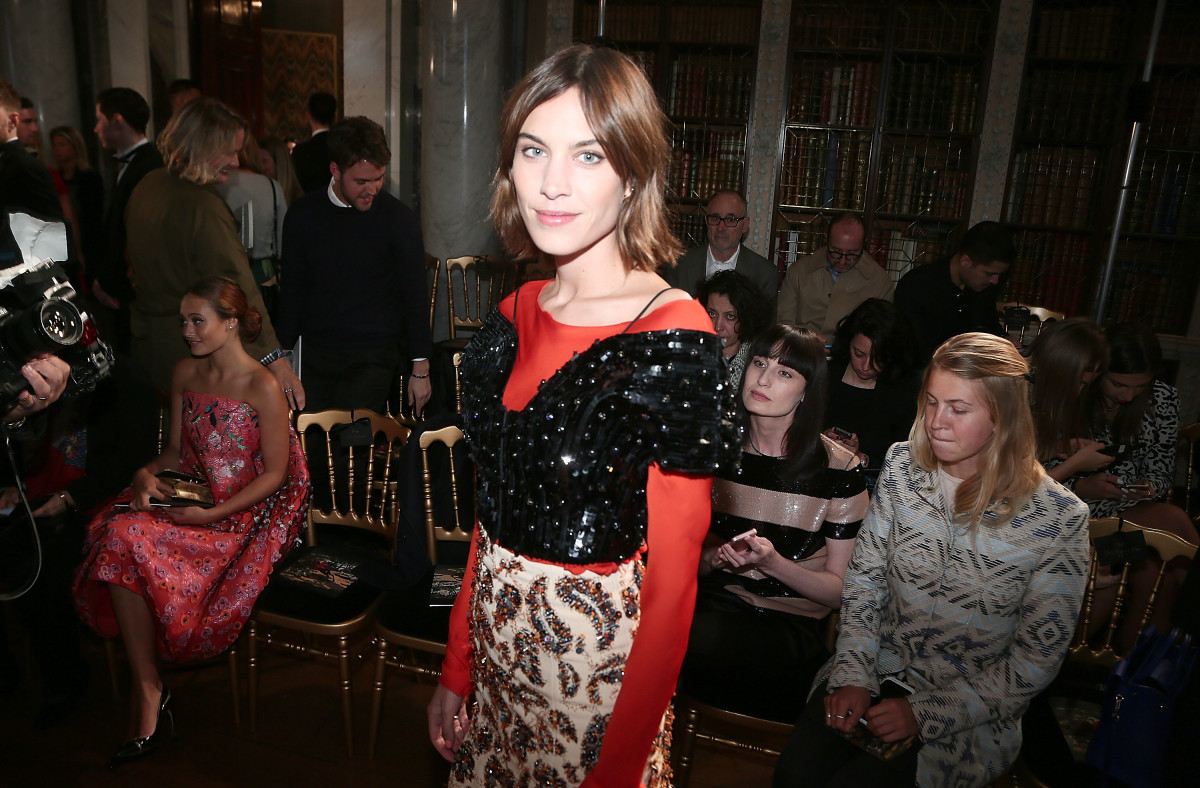 Alexa Chung at the Dior Cruise presentation in London. Photo: Getty Images