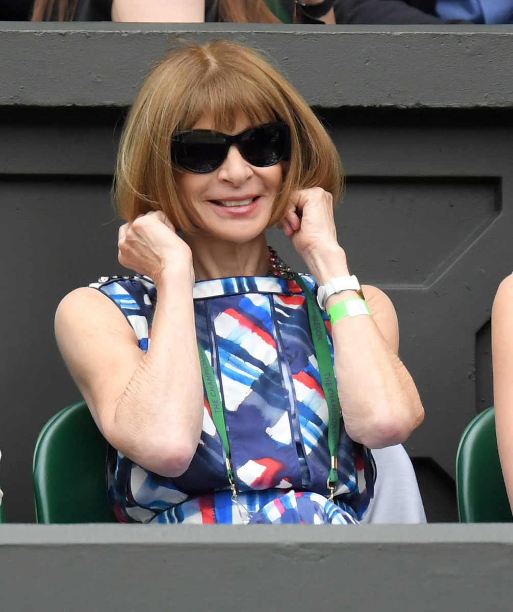 Anna Wintour at Wimbledon on Jul. 4, 2016. Photo: Karwai Tang/WireImage
