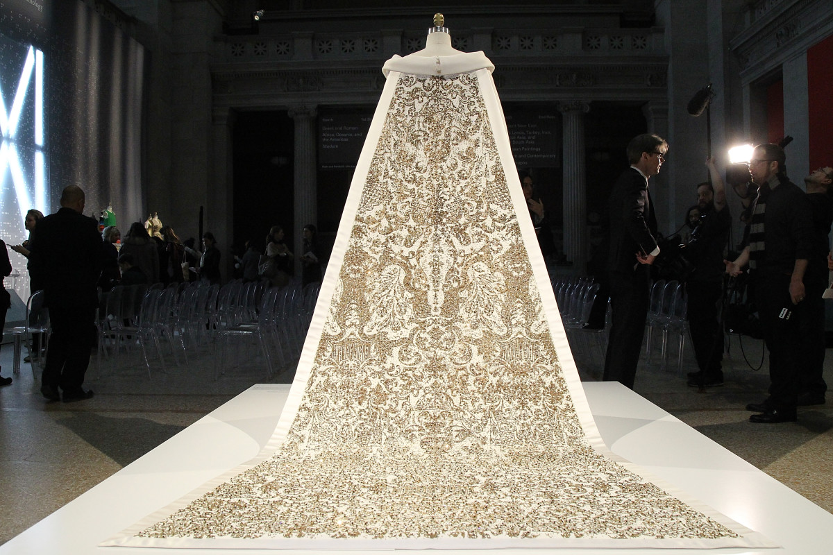 "A Chanel Haute Couture wedding dress at the Costume Institute's ""Manus x Machina"" exhibit at the Metropolitan Museum of Art. Photo: Getty Images"