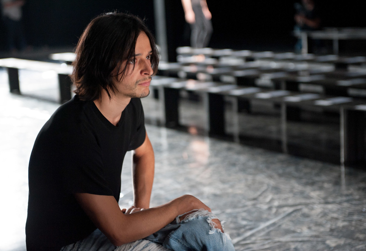 Olivier Theyskens at the Theory Spring 2013 rehearsals. Photo: Getty Images