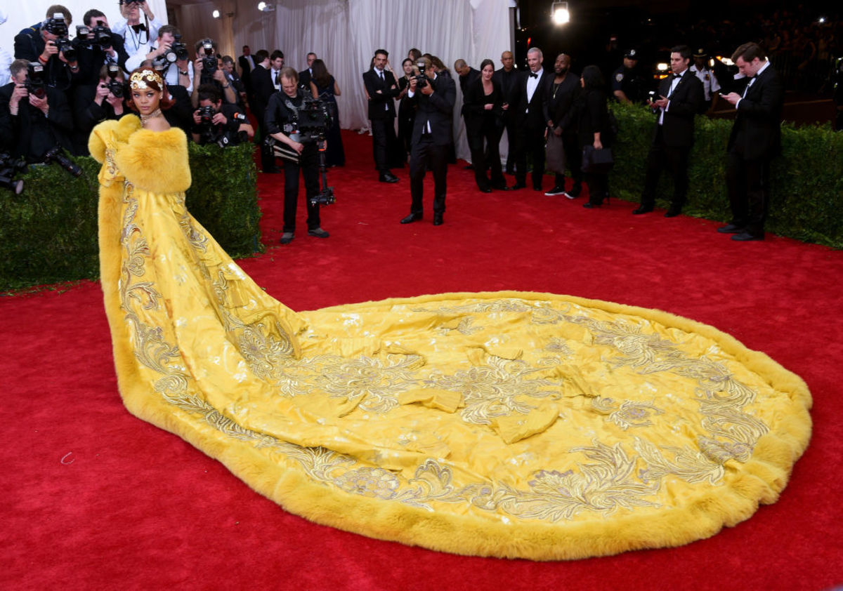 Rihanna at the 2015 Met Gala. Photo: Larry Busacca/Getty Images