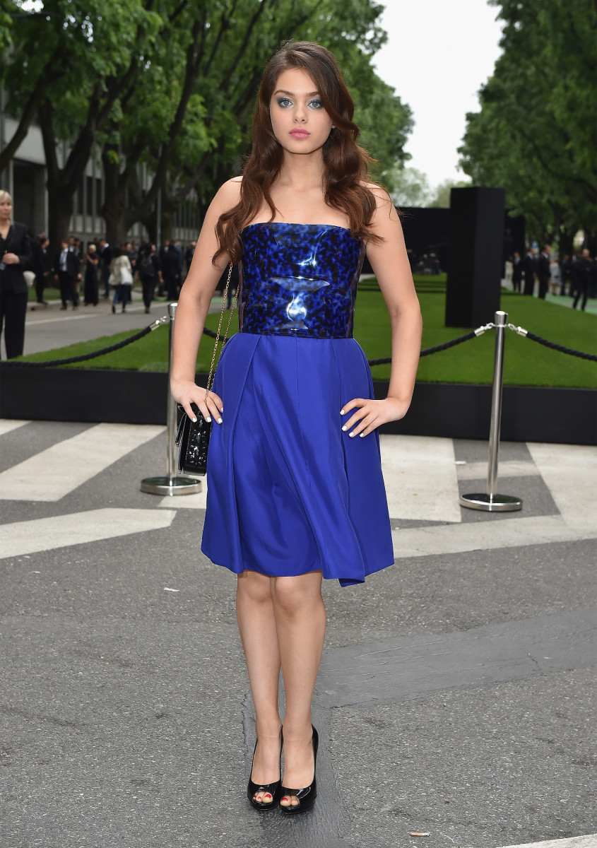 Odeya Rush in Armani. Photo: Jacopo Raule/Getty Images
