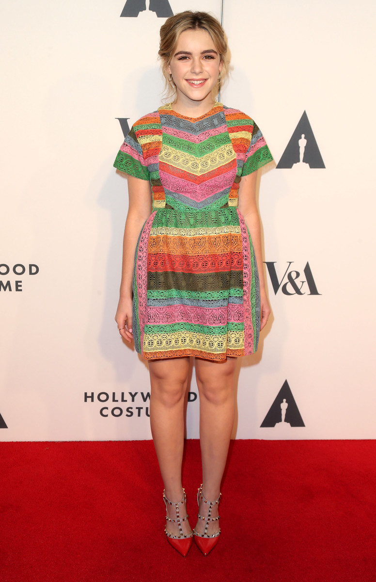 Kiernan Shipka in Valentino. Photo: Frederick M. Brown/Getty Images