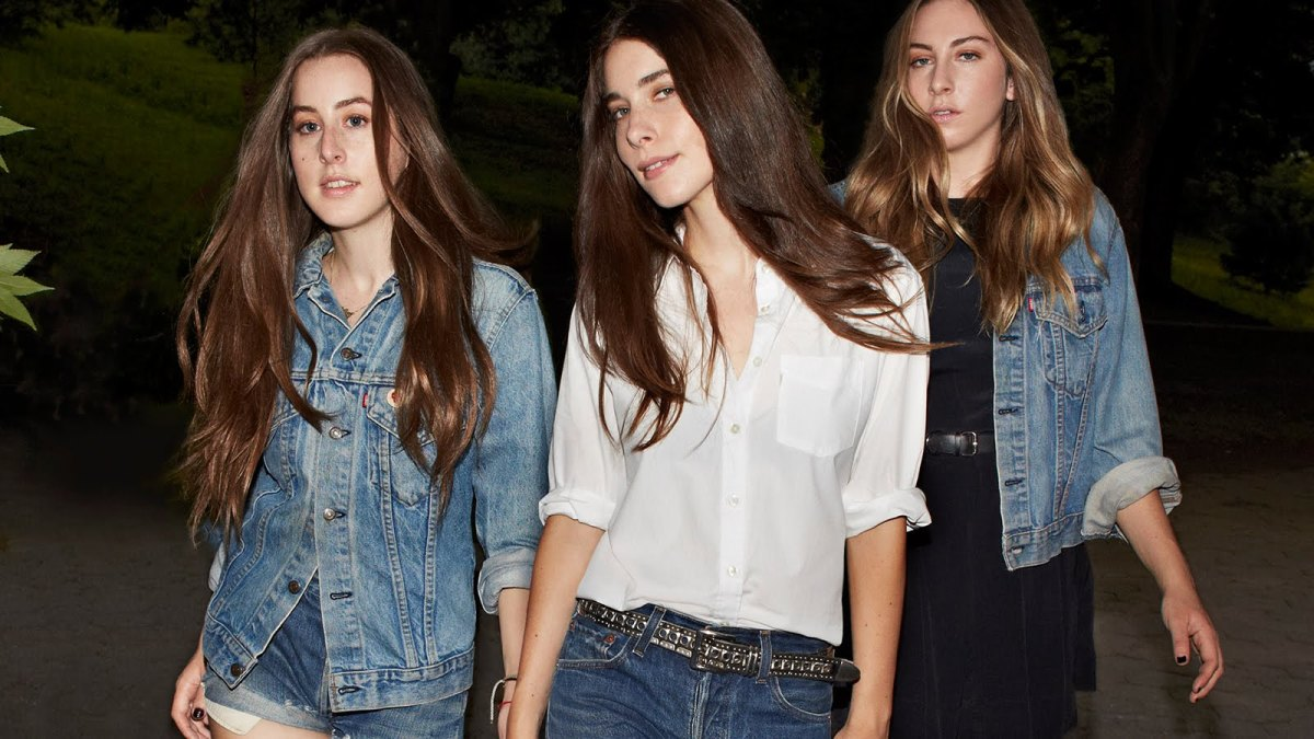 Alana, Danielle and Este Haim in their #LiveInLevis campaign. Photo: Levi's