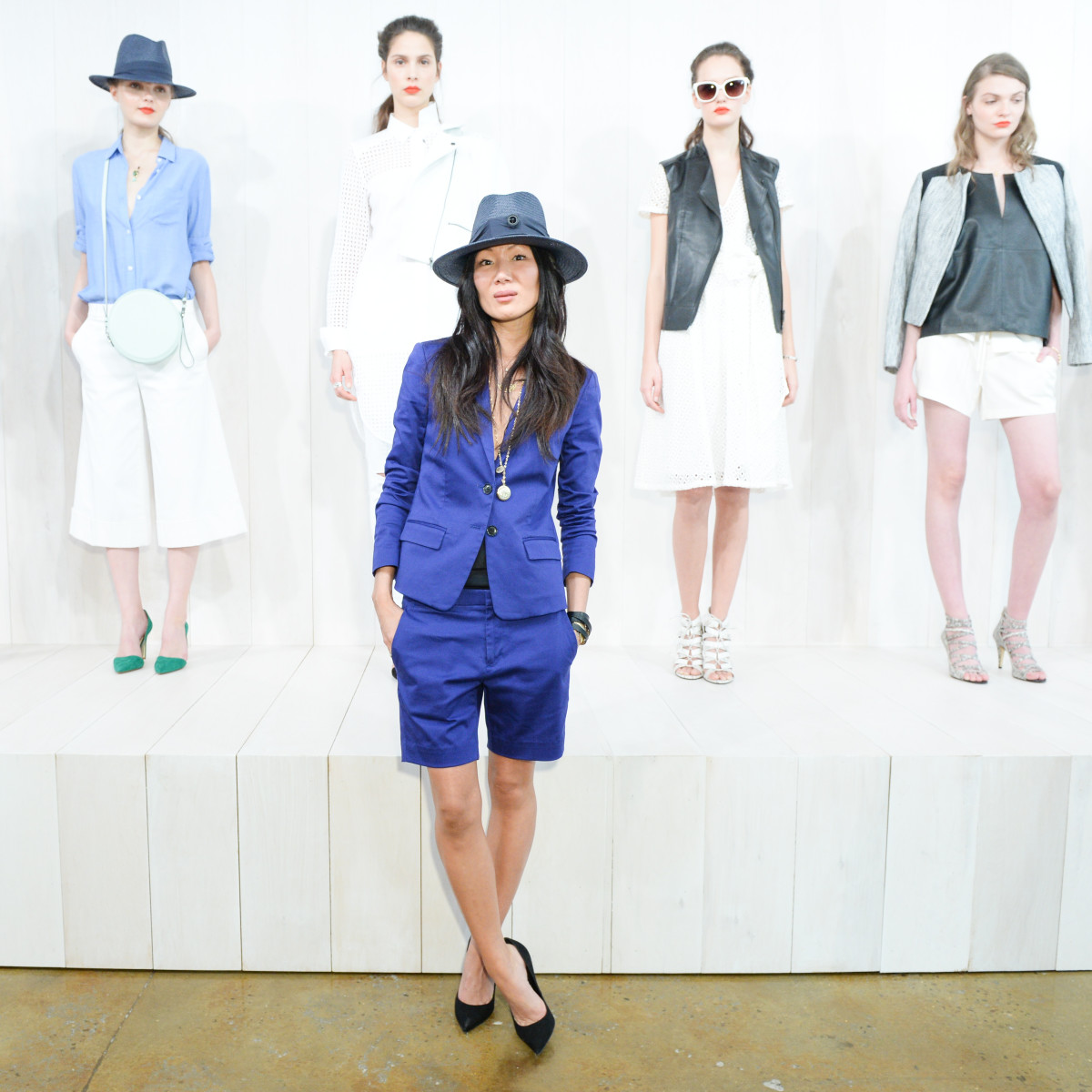 Marissa Webb at the presentation of her first Banana Republic collection, which arrived in stores last month. Photo: Banana Republic
