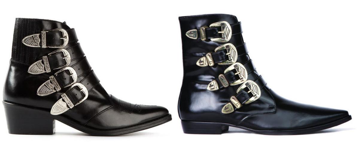 L: Toga Pulla boots, R: Matisse boots