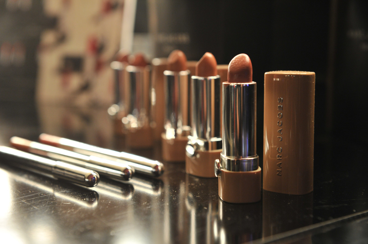 Lipsticks from Marc Jacobs Beauty, one of Sephora's exclusive brands. Photo: Sonia Recchia/Getty Images
