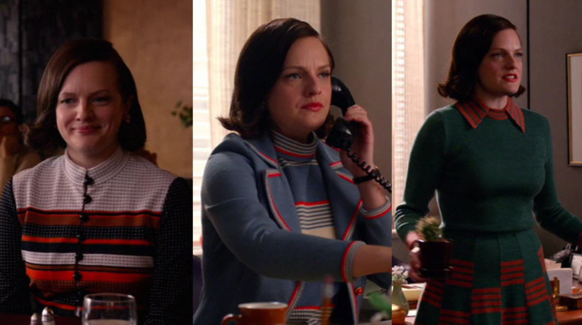 Peggy's perfect stripes and perfect bob. Screengrab: AMC