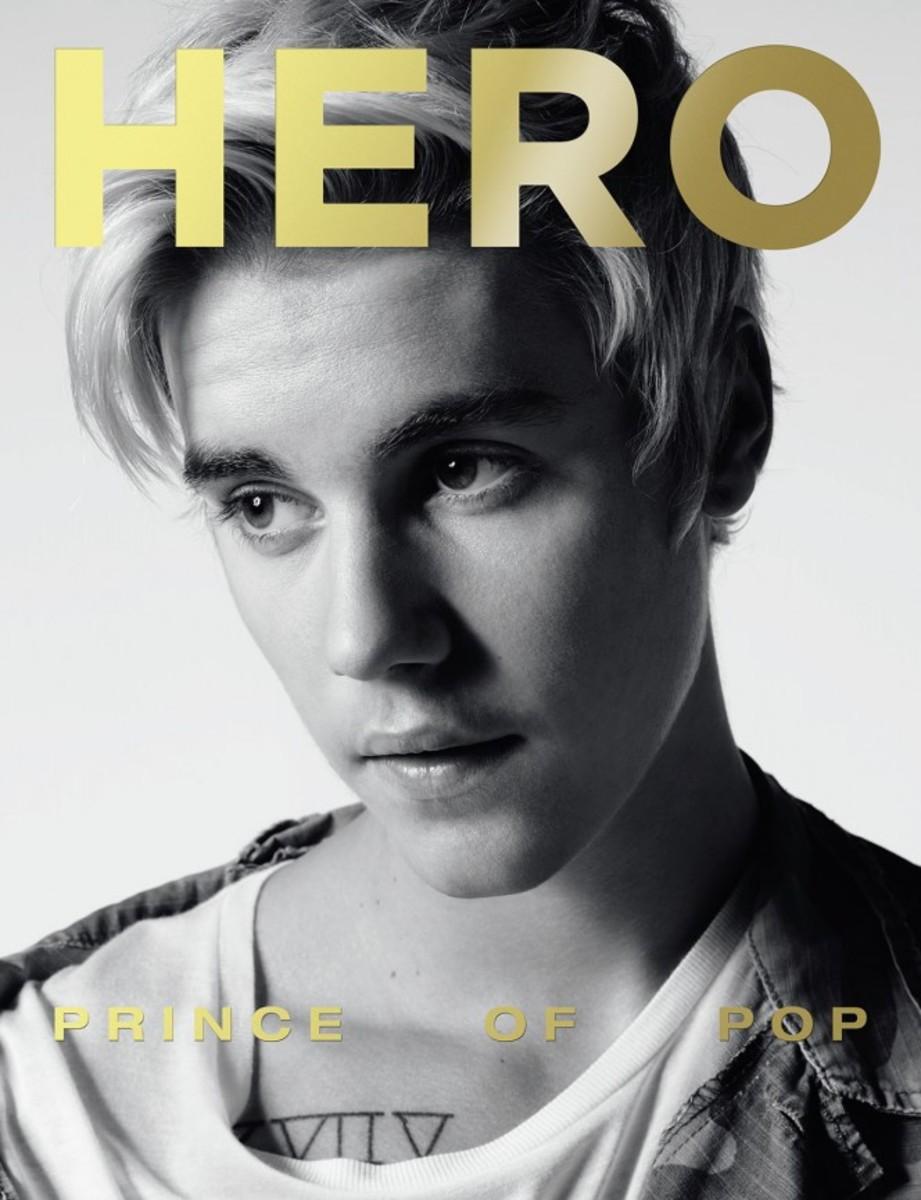 "Justin Bieber by Hedi Slimane for ""Hero"" magazine. Photo: Hero"