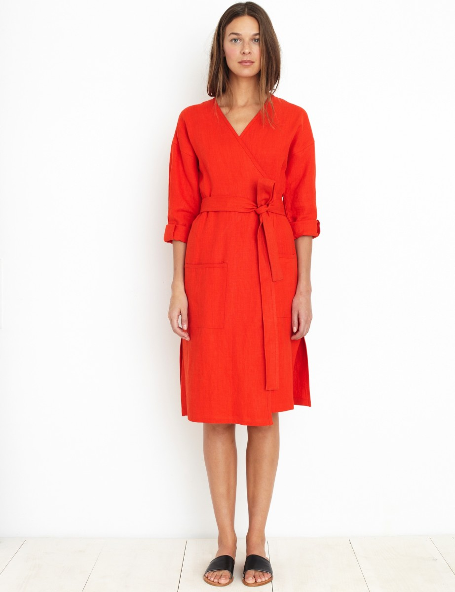 Apiece Apart wrap dress, soon to be $348, available at Apiece Apart.