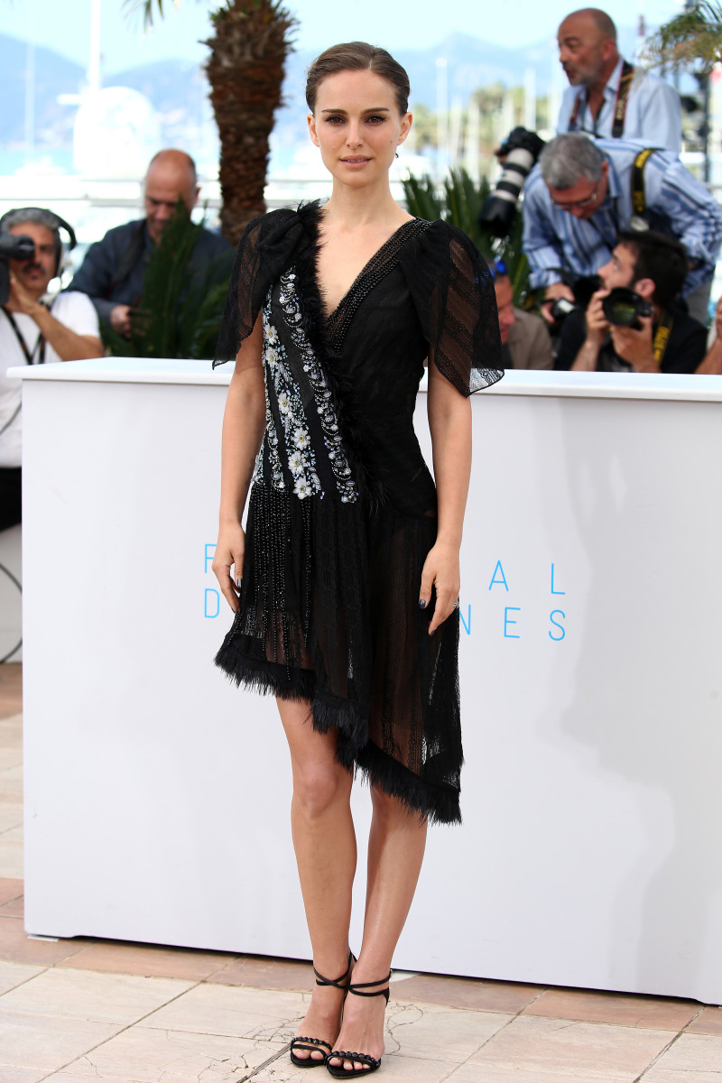 "Natalie Portman in Rodarte at a photocall for ""A Tale Of Love And Darkness"" during the 68th annual Cannes Film Festival. Photo: Andreas Rentz/Getty Images"