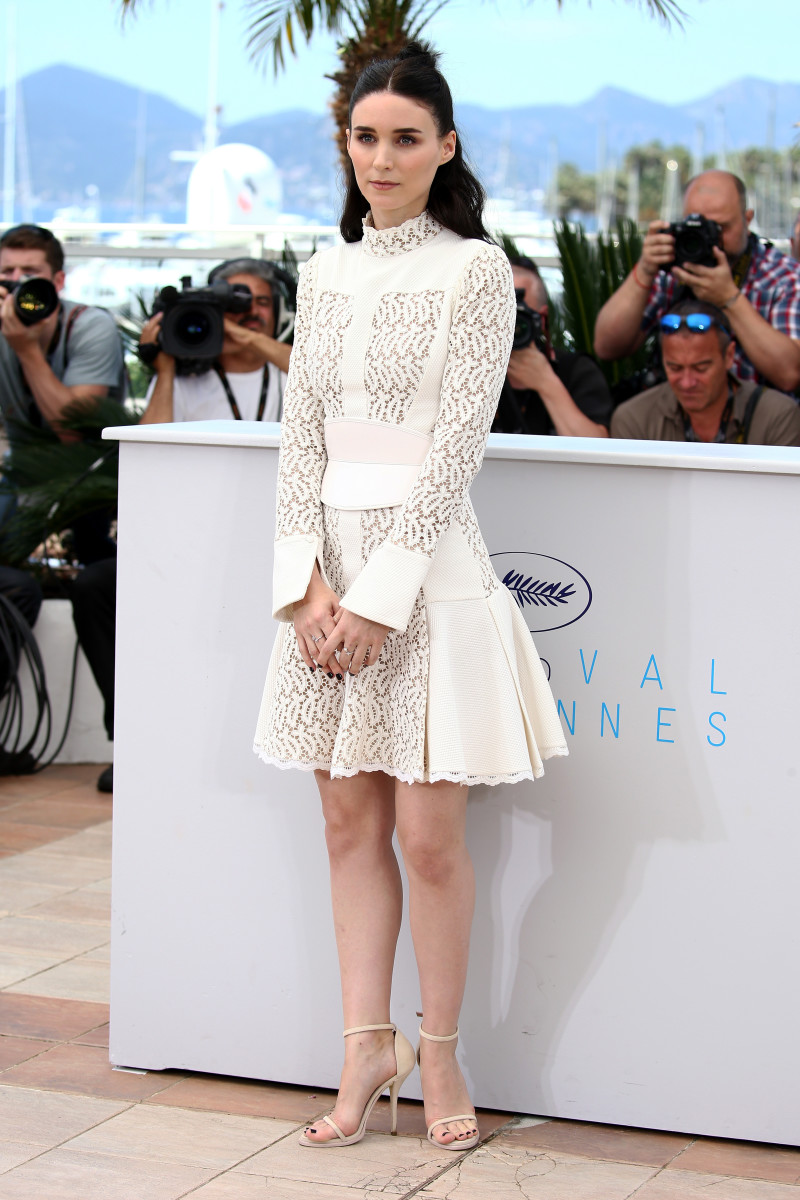 "Rooney Mara in Alexander McQueen at a photocall for ""Carol"" during the 68th annual Cannes Film Festival. Photo: Andreas Rentz/Getty Images"