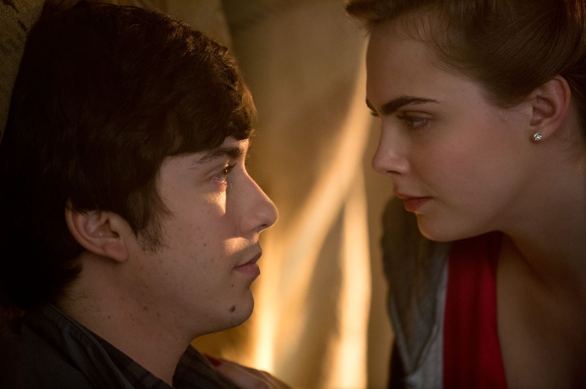 "Nat Wolff as Quentin Jacobson and Cara Delevingne as Margo Roth Spiegelman in ""Paper Towns."" Photo: TM & © 2014 Twentieth Century Fox Film Corporation. All Rights Reserved."