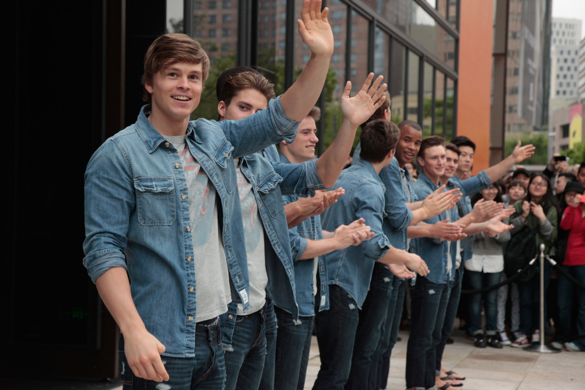 An Abercrombie & Fitch opening in Shanghai in 2014. Photo: Kevin Lee/Getty Images
