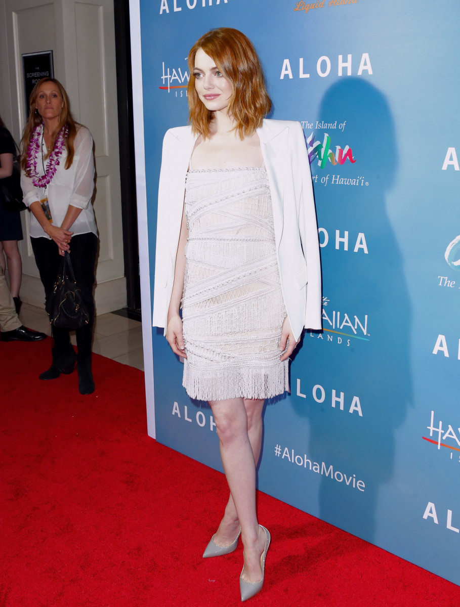 "Emma Stone at a screening of her new film, ""Aloha."" Photo: Frederick M. Brown/Getty Images"