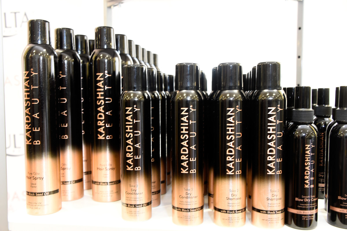 The Kardashians' beauty products at Ulta. Photo: Frazer Harrison/Getty Images