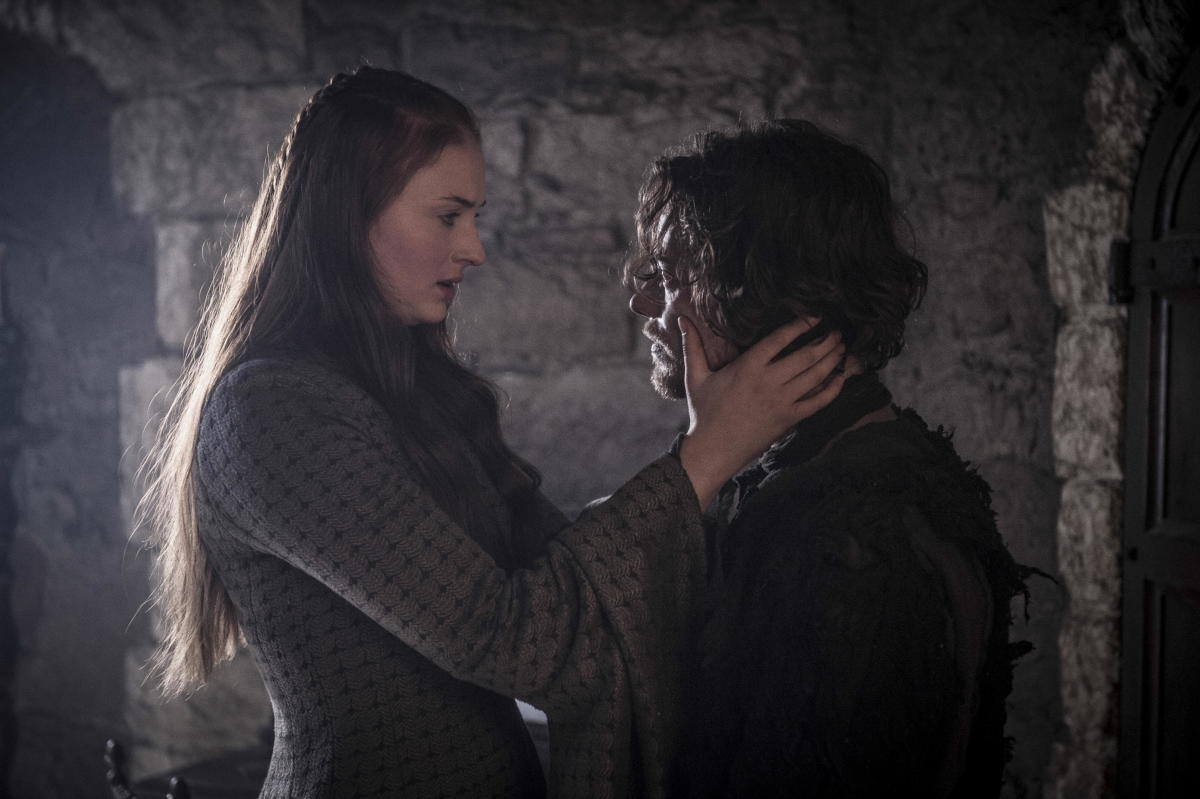 Purell after this, Sansa. Photo: Helen Sloan/HBO