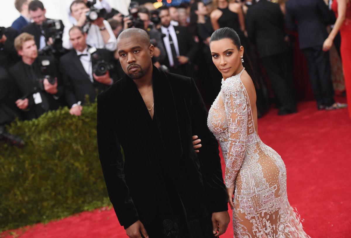 Kim Kardashian and Kanye West. Photo by: Mike Coppola