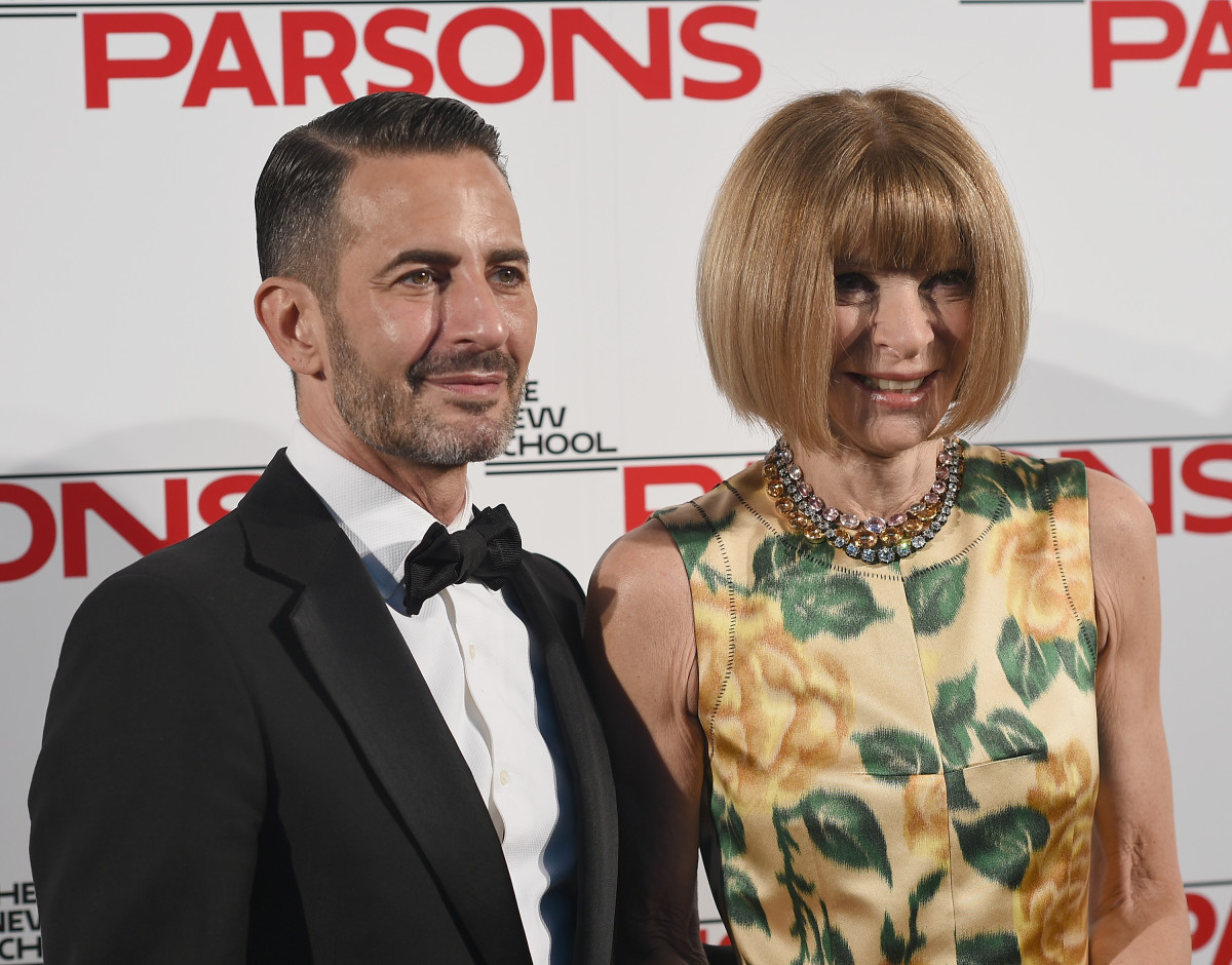 Marc Jacobs and Anna Wintour. Photo: Dimitrios Kambouris/Getty Images
