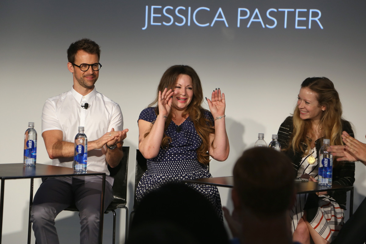 Stylists Brad Goreski, Jessica Paster and Erin Walsh. Photo: Anna Webber/Getty Images