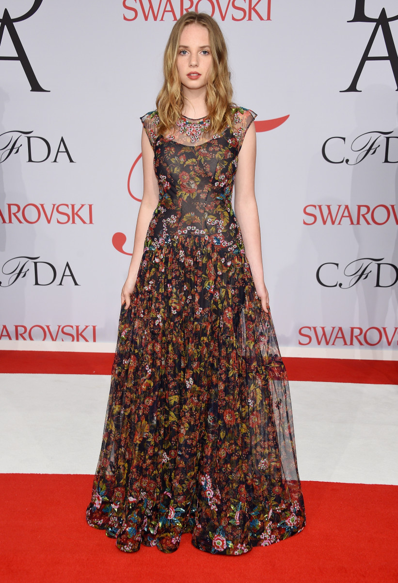 Maya Thurman-Hawke in Zac Posen at the CFDA Awards. Photo: Dimitrios Kambouris/Getty Images