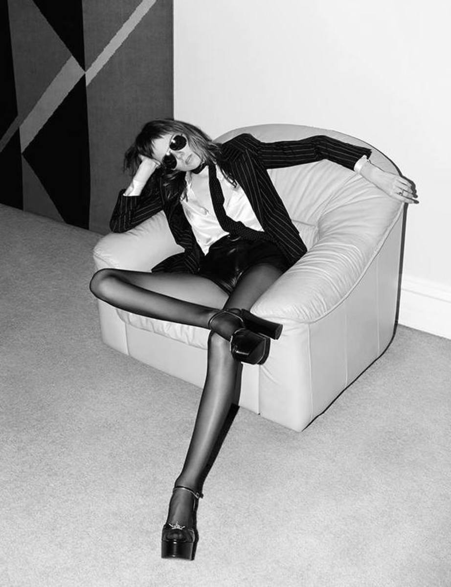 Model Kiki Willems in the spring 2015 Saint Laurent campaign. Photo: Hedi Slimane